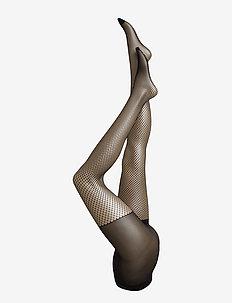 Ladies den pantyhose, Net 20 - BLACK