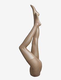 Ladies den pantyhose, Net 20 - patroon - latte