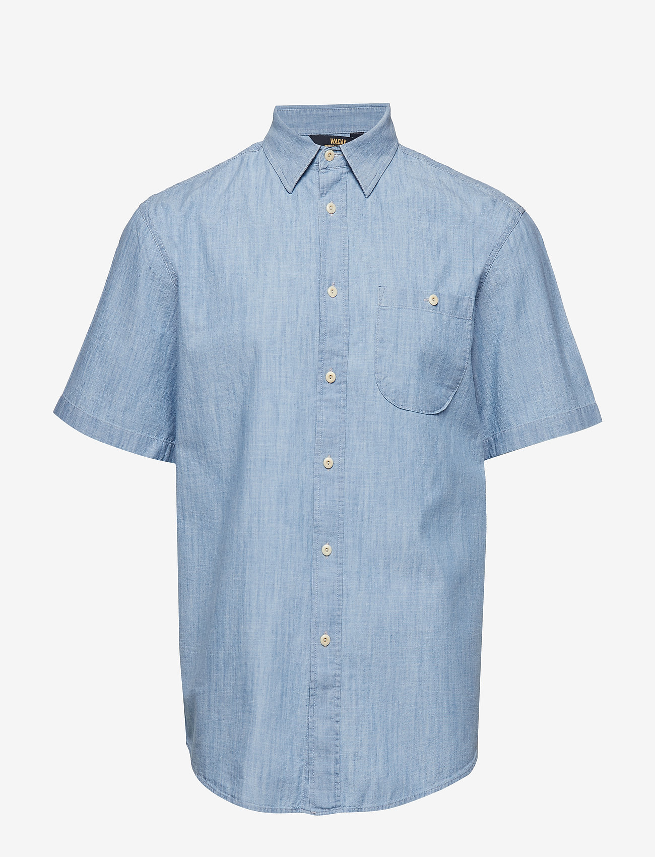 WACAY - Breezy Chambray SS Shirt - short-sleeved shirts - blue melange