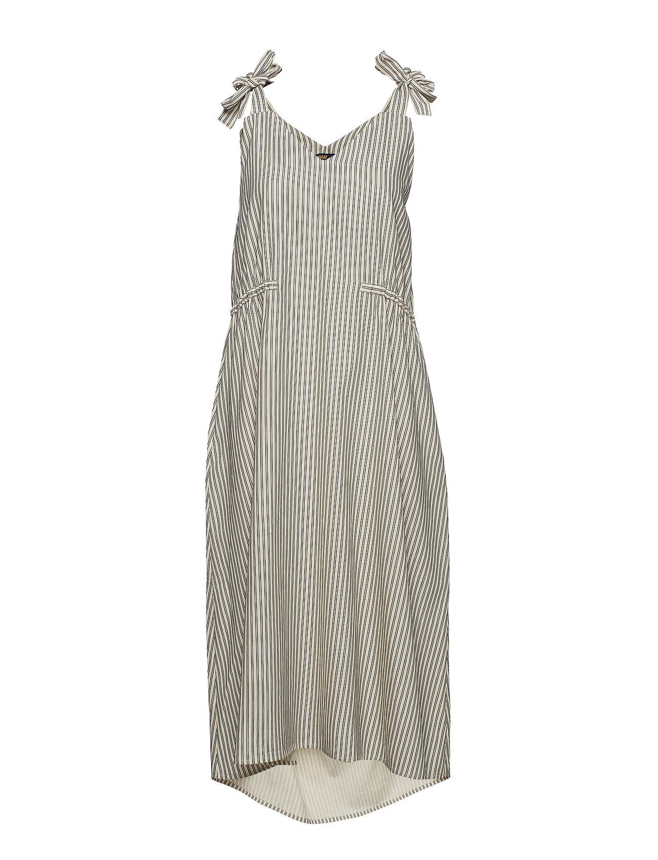 WACAY Mattea Dress - PINSTRIPE OFF WHITE