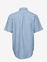 WACAY - Breezy Chambray SS Shirt - short-sleeved shirts - blue melange - 1