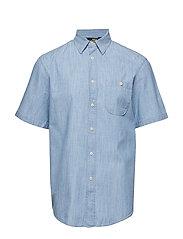 Breezy Chambray SS Shirt - BLUE MELANGE