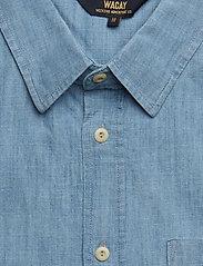 WACAY - Breezy Chambray SS Shirt - short-sleeved shirts - blue melange - 2
