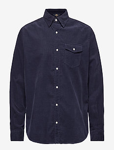 Gusto Baby Cord Shirt - chemises shirts - big blue