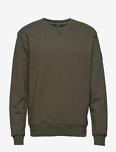 Badge Sweatshirt - STONE GREEN