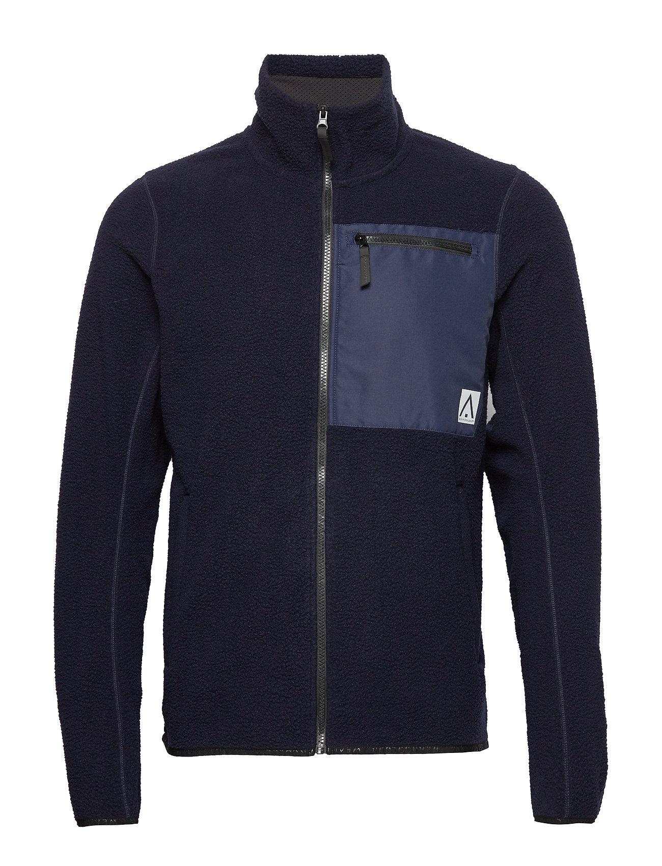 WearColour RETRO Pile Jacket - BLUE IRIS
