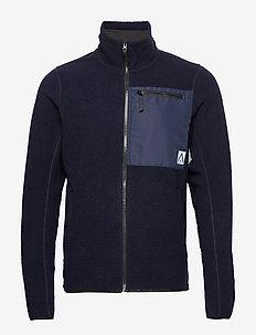 RETRO Pile Jacket - BLUE IRIS