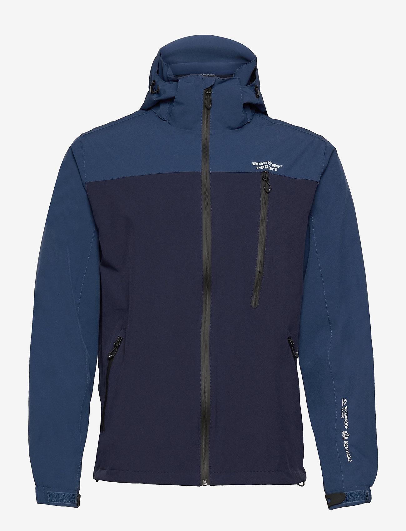 Weather Report - Delton M AWG Jacket W-PRO 15000 - regenjassen - navy blazer - 0