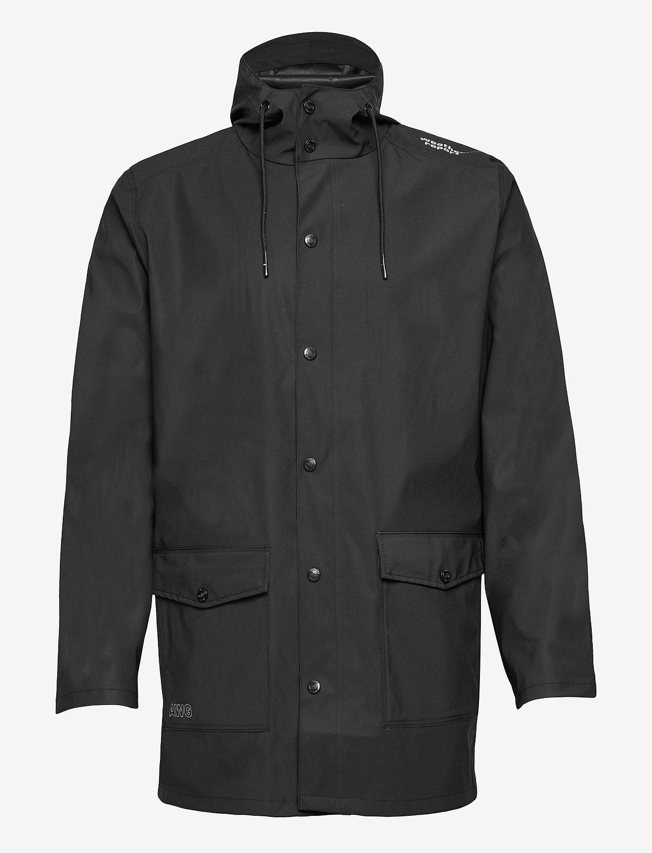 Weather Report - Erik M Dull PU Jacket W-PRO 5000 - płaszcze przeciwdeszczowe - black - 0