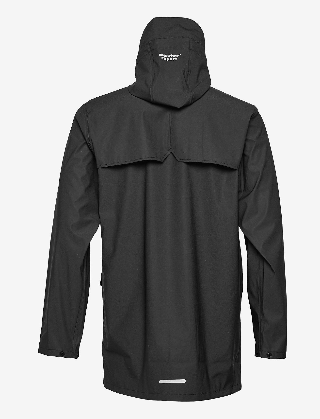 Weather Report - Erik M Dull PU Jacket W-PRO 5000 - płaszcze przeciwdeszczowe - black - 1