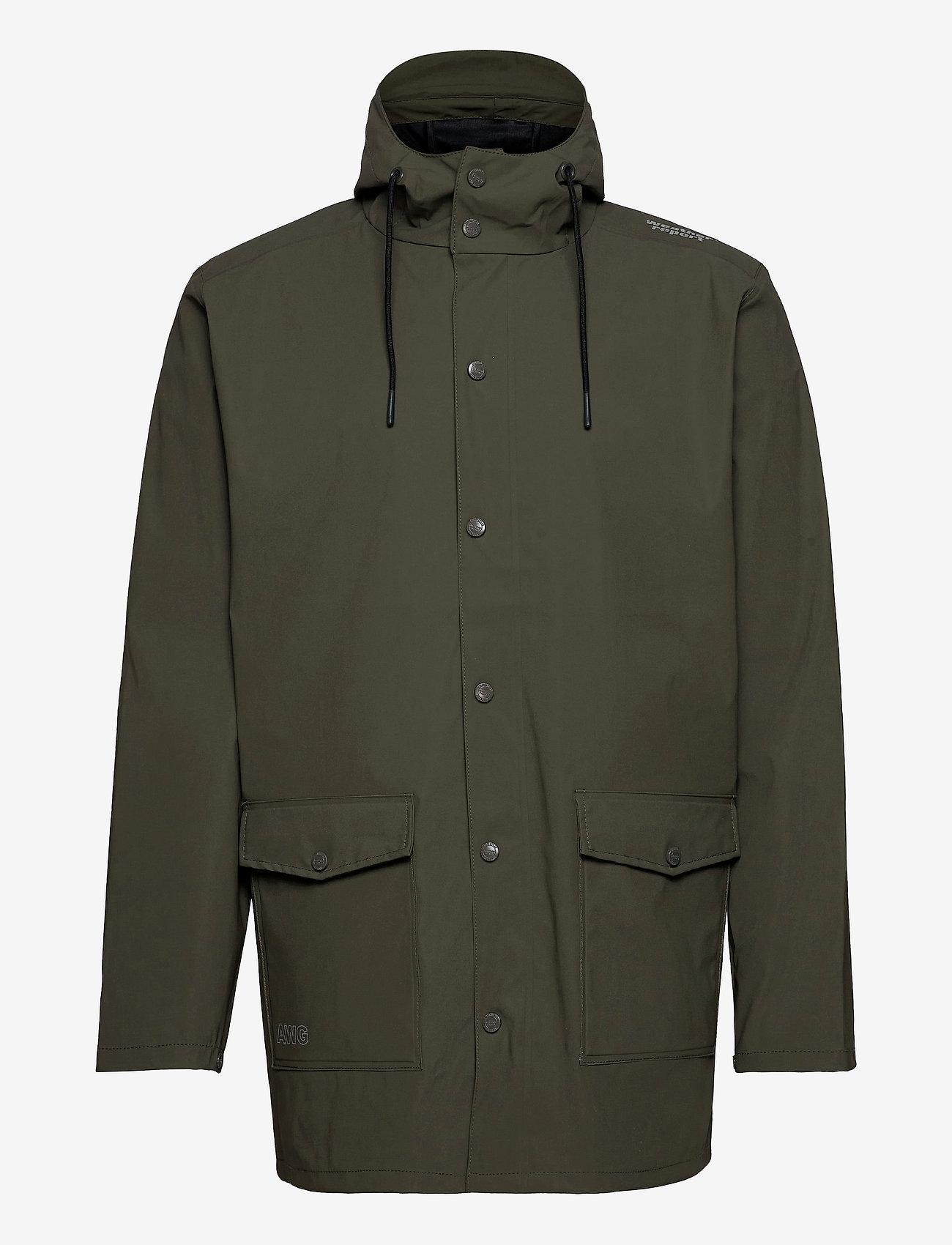 Weather Report - Erik M Dull PU Jacket W-PRO 5000 - płaszcze przeciwdeszczowe - forest night - 0