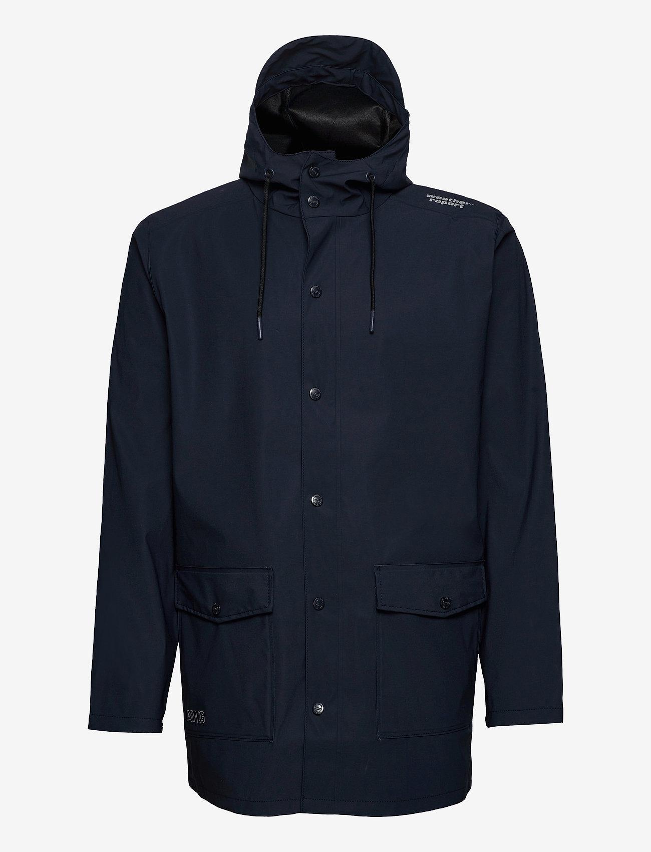 Weather Report - Erik M Dull PU Jacket W-PRO 5000 - płaszcze przeciwdeszczowe - navy blazer - 0