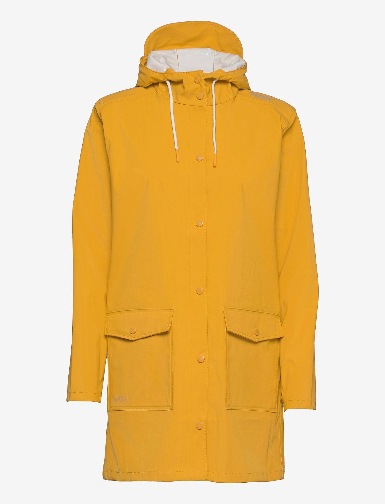 Weather Report - Tass W Dull PU Jacket W-PRO 5000 - manteaux de pluie - golden rod - 0