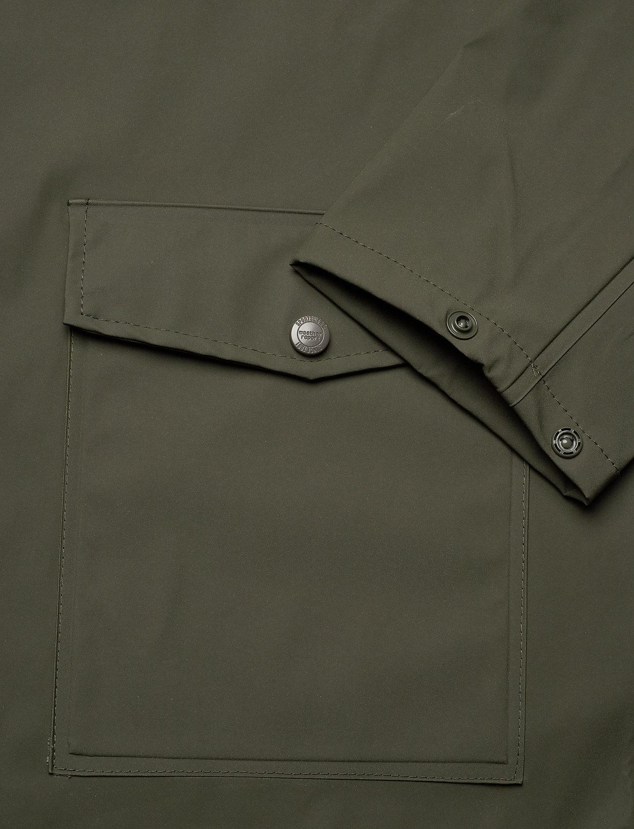 Weather Report - Erik M Dull PU Jacket W-PRO 5000 - płaszcze przeciwdeszczowe - forest night - 5
