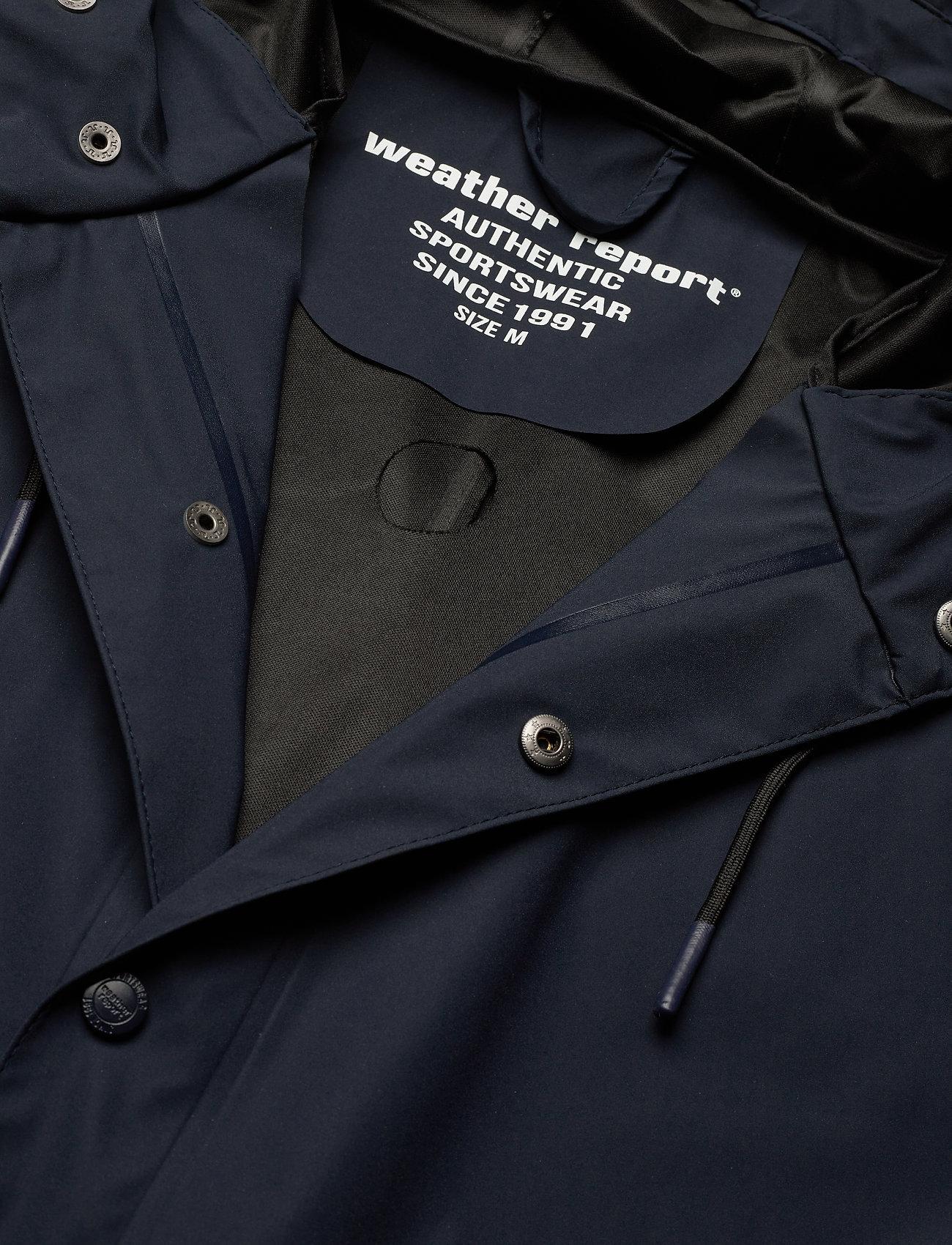 Weather Report - Erik M Dull PU Jacket W-PRO 5000 - płaszcze przeciwdeszczowe - navy blazer - 3