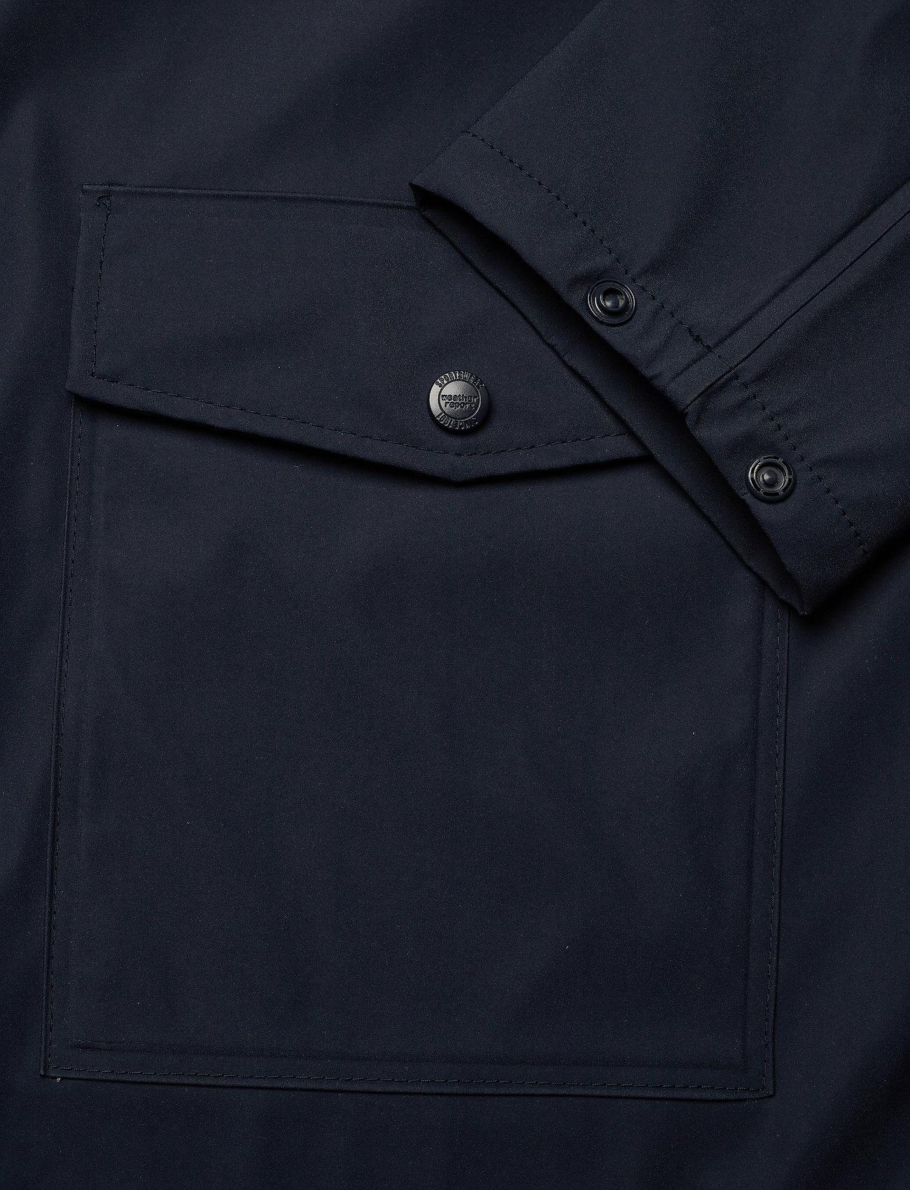 Weather Report - Erik M Dull PU Jacket W-PRO 5000 - płaszcze przeciwdeszczowe - navy blazer - 4