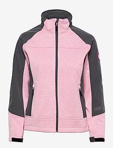 lana lds softshell jkt - frilufts- og regnjakker - pink melange