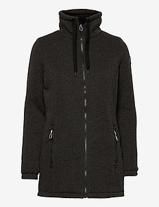 Judy Lds. melange fleece - fleece - black