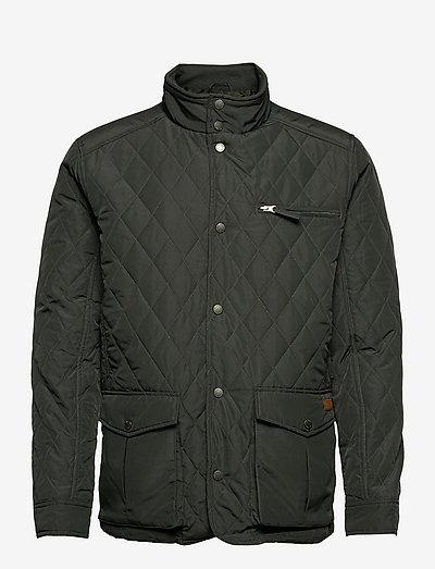 Fraser mens Jacket - pikowana - dark green