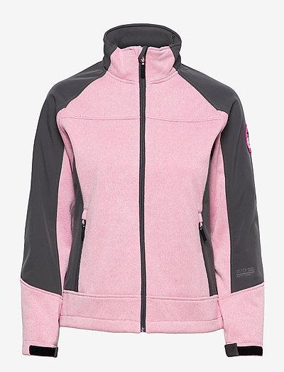 lana lds softshell jkt - kurtki turystyczne - pink melange