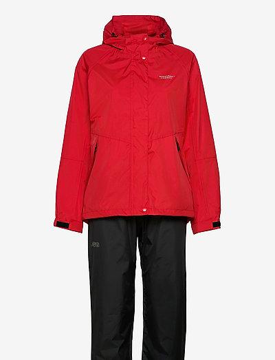 Carlene W AWG Rain Set W-PRO 10000 - płaszcze przeciwdeszczowe - chinese red