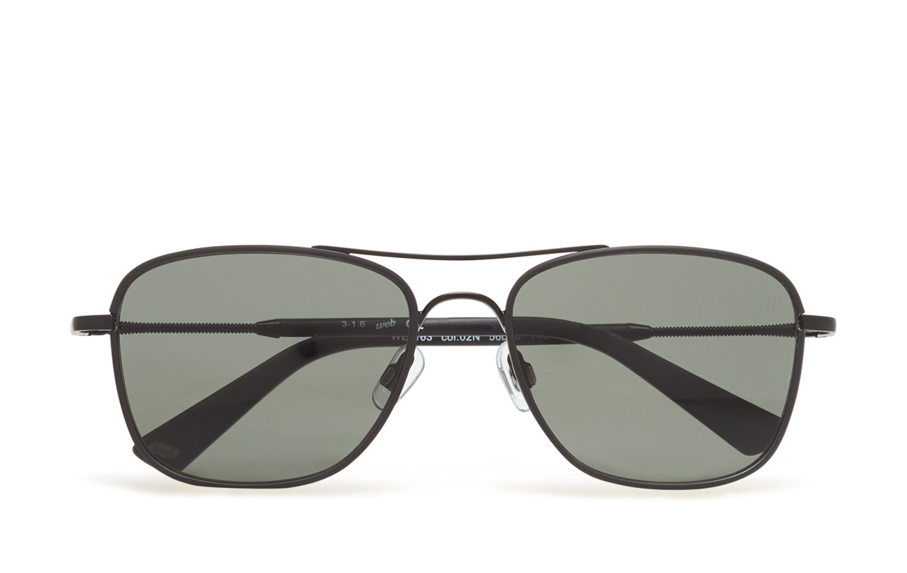 Web Eyewear WE0163 - 02N - MATTE BLACK / GREEN