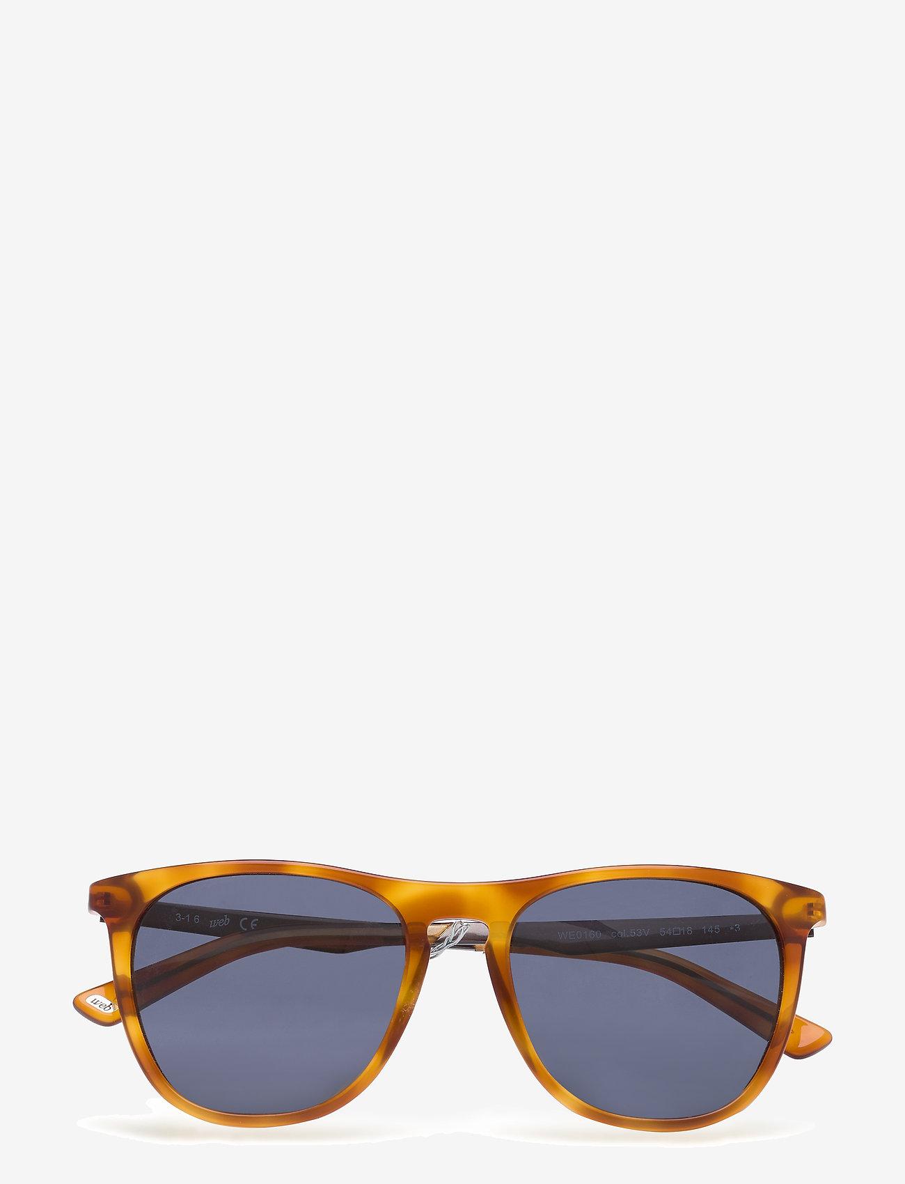 Web Eyewear - WE0154 - okulary przeciwsłoneczne w kształcie litery d - 53p -blonde havana / gradient green - 0