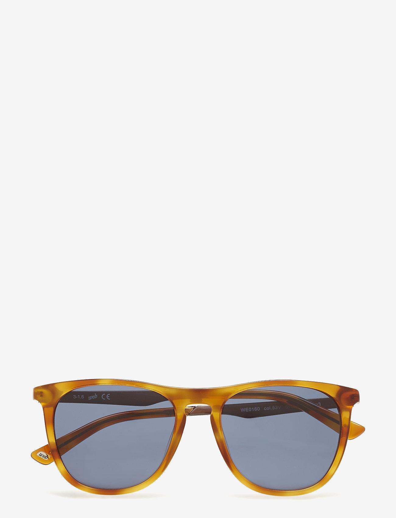Web Eyewear - WE0160 - okulary przeciwsłoneczne w kształcie litery d - 53v -blonde havana / blue - 0