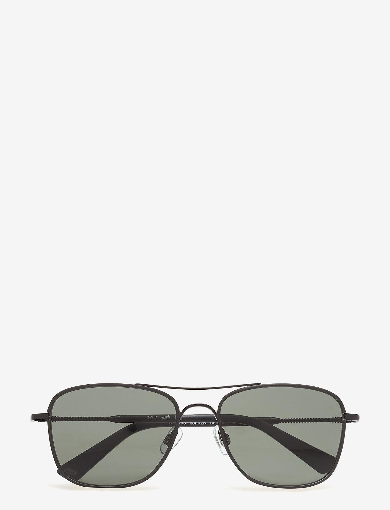 Web Eyewear - WE0163 - okulary przeciwsłoneczne w kształcie litery d - 02n -matte black / green - 0
