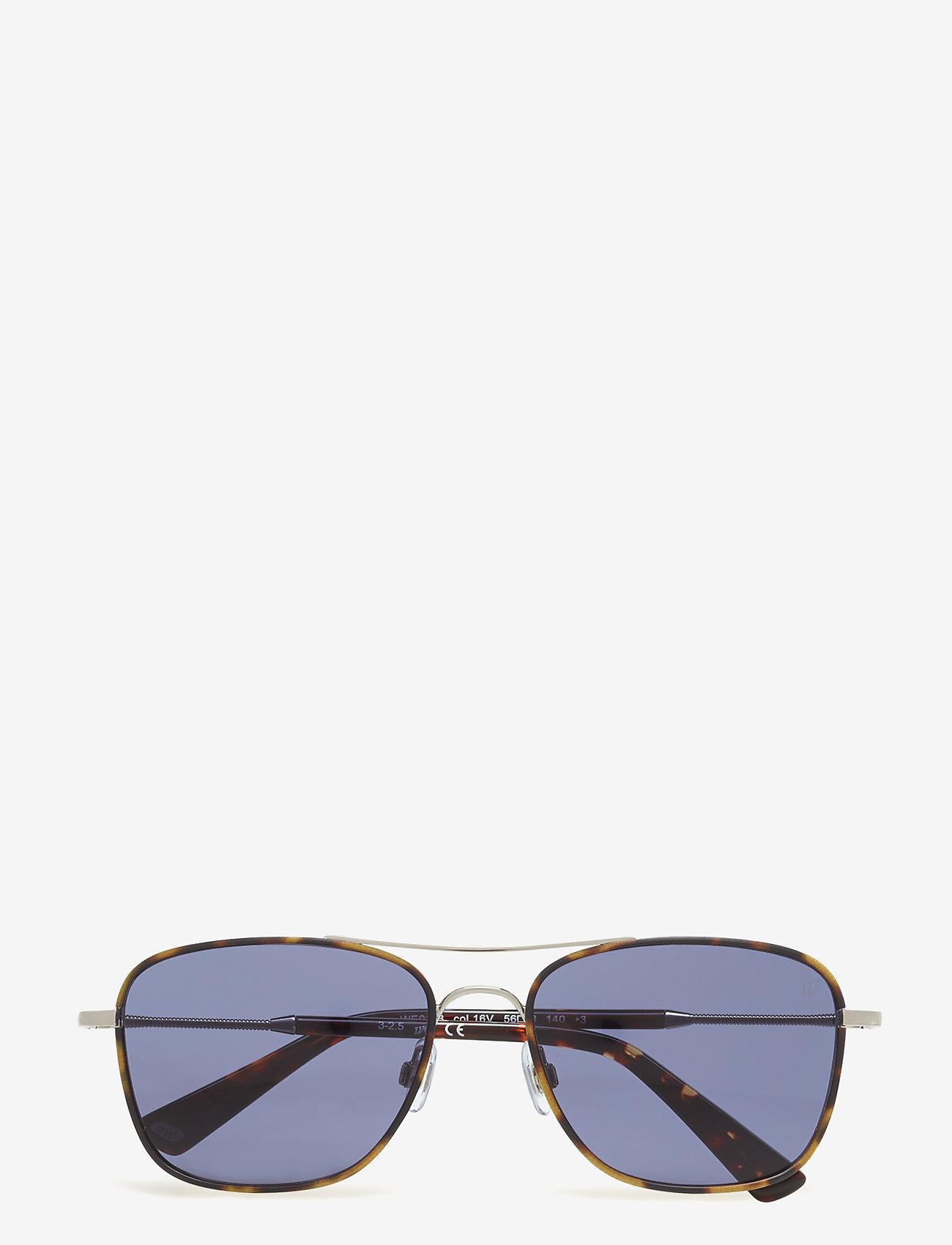 Web Eyewear - WE0163 - okulary przeciwsłoneczne w kształcie litery d - 16v -shiny palladium / blue - 0