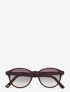 WE0130 - okrągłe okulary przeciwsłoneczne - 52p - dark havana / gradient green