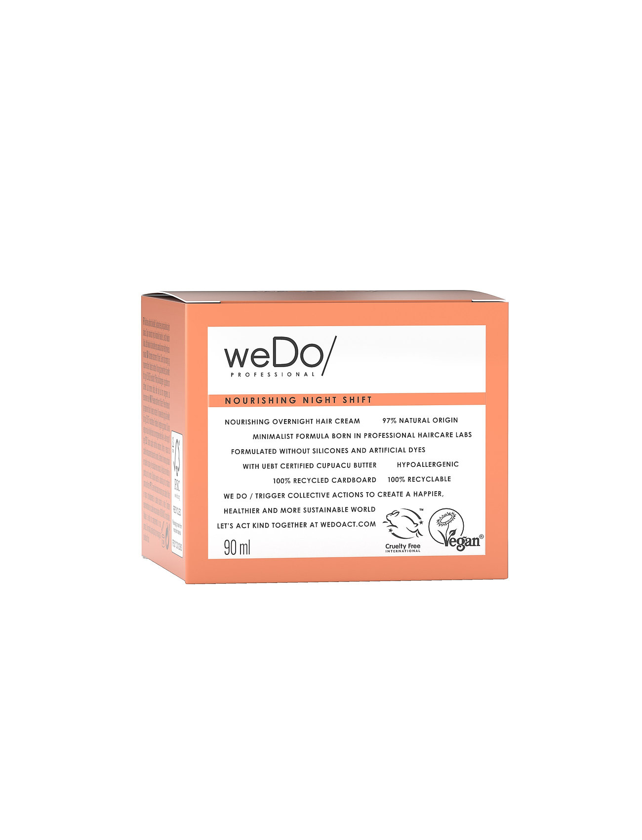 weDo Professional - weDo  Nourishing Night Shift Overnight Treatment 90ml - hårmasker - no colour - 1