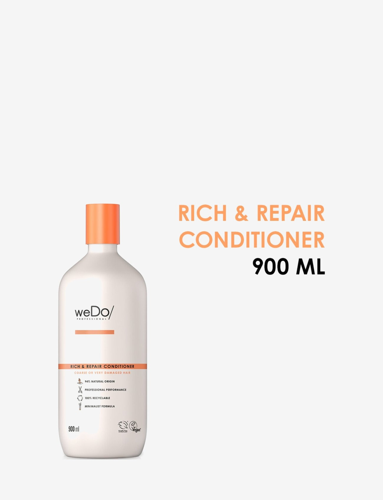 weDo Professional - weDo Professional Rich & Repair Conditioner 900ml - hårmasker - no colour - 1