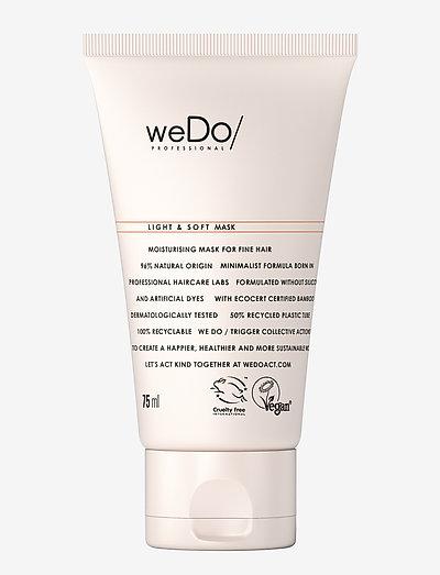 weDo Professional Light & Soft Hair Mask 75ml - hårmasker - no colour