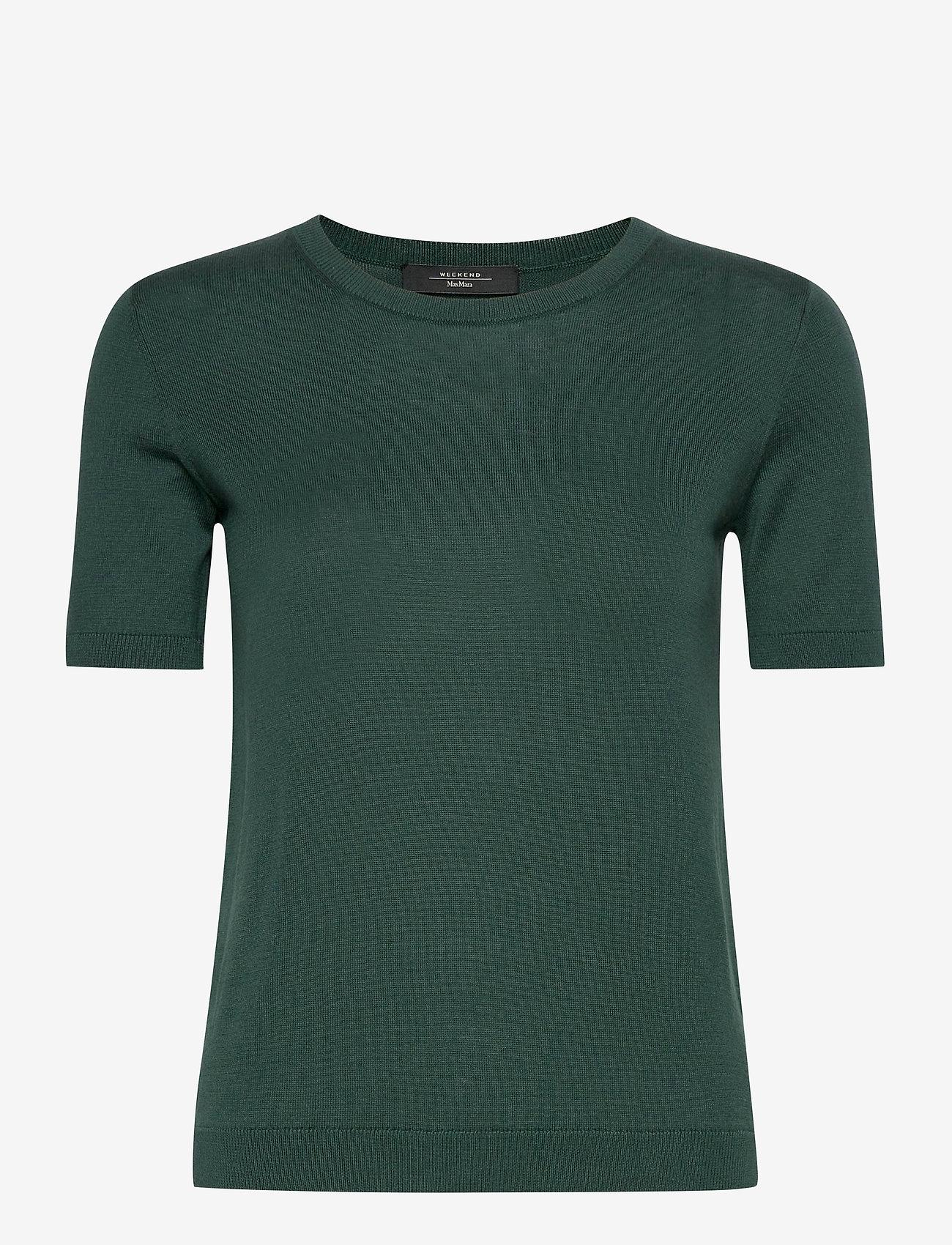 Weekend Max Mara - CAIRO - gebreide t-shirts - dark green - 0