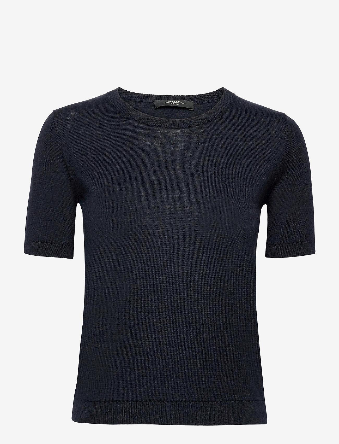 Weekend Max Mara - CAIRO - gebreide t-shirts - navy - 0