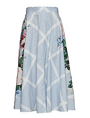 PACCA - WHITE VICHY + FLOWER SKIRT