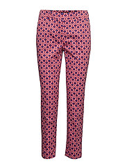 CALCUT - RED SMALL GEOMETRIC TROUSERS