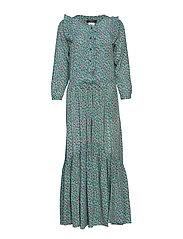 AGIATE - EMERALD FLOWER DRESS