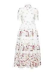 LINA - WHITE SHADED FLOWER DRESS