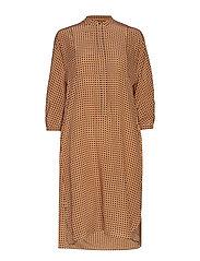 ARIO - OCHRE POIS DRESS