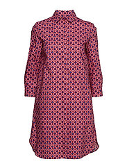 PRATO - RED SMALL GEOMETRIC DRESS