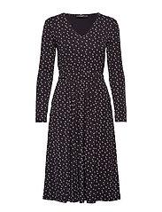 URAGO - BLACK LEAVES KNITTED DRESS