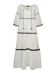 OCHE - WHITE JERSEY DRESS WHITE PETTICOAT