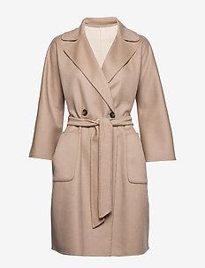 BALTA - wełniane płaszcze - beige