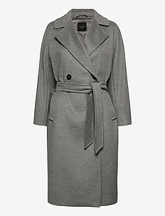 RESINA - trenchcoats - light grey