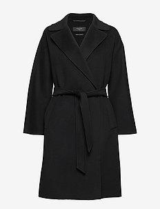 TANGA - wełniane płaszcze - black