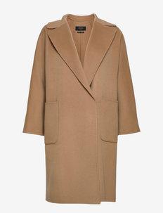 ROVO - wełniane płaszcze - camel