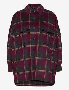 ARDEA - wool jackets - plum