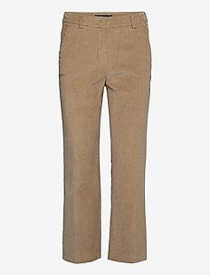 JORDAN - wide leg trousers - camel